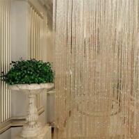 String Door Curtain Room Decor Divider Window Panel Tassel Fringe LJ