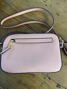 Kurt Geiger Dusky Pink Leather Small Crossbody Bag
