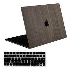 "[SOJITEK] Brown Wood Decal Skin Stickers for MacBook Pro 15"" A1707 + Key Cover"