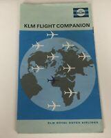 KLM Royal Dutch Airline Booklet Flight Companion Vintage Brochure Maps