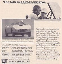 1957 ARNOLT-BRISTOL  ~  ORIGINAL SMALLER S.H. ARNOLT INC AD