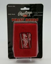 "Rawlings 4"" Glove Wristbands (10.16 cm) One Pair Red Baseball Softball RW4 NIB"