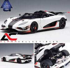 AUTOART 79016 1:18 KOENIGSEGG ONE:1 PEBBLE WHITE/CARBON BLACK /RED ACCENTS