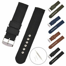 18 /20 /22mm Military Nylon Canvas Wrist Strap Metal Buckle Watch Band w/Tools