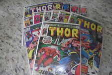 Thor 1979 Bronze Age Lot Run every issue from year, Christmas? Fn/VN lot LOOK!!