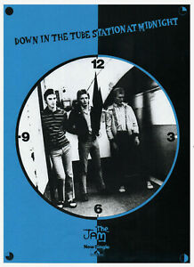 JAM. A3 REPRO POSTER. DOWN IN THE TUBE STATION. Paul Weller, Mod, Punk.