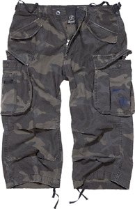 Brandit Industry Vintage 3/4 Cargo Hose Shorts Bermuda Dark Camo Gr. L