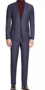 John Varvatos Star Usa Luxe 1672 Mens Navy Micro Textured Slim Fit Suit Sz 42R