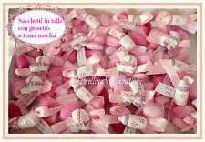 SACCHETTO BOMBONIERA in tulle con 5 confetti - PERSONALIZZABILE NEI COLORI -