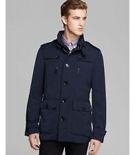 100% AUTHENTIC NEW MEN BURBERRY BOWDEN BLUE RAIN JACKET/COAT US XL