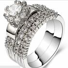 Size 5-11 Sterling Silver Engagement Wedding Ring Propose Statement Anniversary