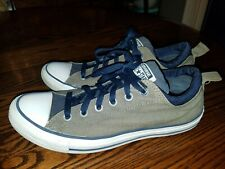 569dae01dc5513 CONVERSE ALL STARS DUAL COLLAR OX CHARCOAL WITH NAVY UNISEX MENS 8 WOMENS 10