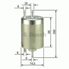 NEW ENGINE FUEL FILTER OE QUALITY REPLACEMENT BOSCH 0450915003