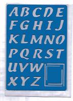 Plastic/PVC/Embossing/Stencil/Alphabet/4/Upper/Case/PP/Bendy