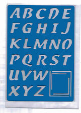 Plastic/PVC/Embossing/Stencil/Alphabet/4/Upper/Case/PP/Bendy
