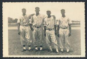 "1940's Tarafa Baseball Club, ""Double Weight Photo of Four Members in Uniform"""