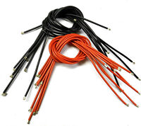 14AWG 14 AWG Gauge RC Flexible Silicone Coated Wire Cable 50cm Black Red x 10