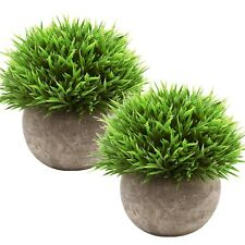 2 Pieces Fake Plant Art Artificial Faux Greenery Plant for Party Decorative Home