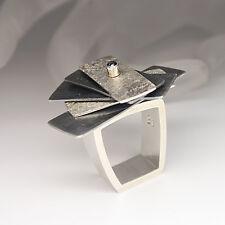 Desinger Ring Propeller mit ca. 0,08ct Turmalin in 925er Silber Handarbeit