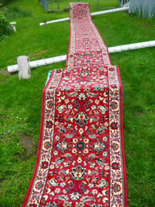 30 Foot Runner Rug - Vintage Condition - RED Traditional Oriental, Very Nice