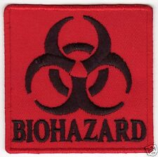 BIOHAZARD PATCH  - Red Iron On Punk Patch