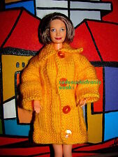 manteau chic barbie grand mère happy family jaune orangé sexy label qualité @
