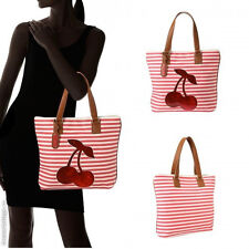 Betsey Johnson Cut It Out Beach Tote Shoulder Shopper Bag Fashion Red Cherry