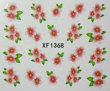 Accessoire ongles : nail art - Stickers autocollants motifs fleurs roses