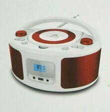Tragbarer CD-Player FM Radio Boombox Kinder Radio Kompaktanlage CD Player rot