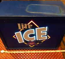 Miller LITE ICE Beer Advertising Box Light Up Sign Man Cave Pre-owned Working.