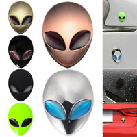 Full Metal 3D Alien Head Logo Sticker Badge Emblem Car Motorcycle Decals Cool