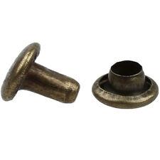 100 Sets 6mm Round Antique Brass Rivets Rapid Studs ED