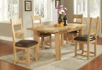 FULLY ASSEMBLED Dining Room Country House Solid Oak Extendable Dining Table