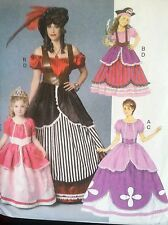 Butterick Sewing Pattern 6113 Pirate Princess Dresses Halloween Gown Sizes 3-8