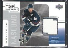 MARKUS NASLUND 2001/02 UD TOP SHELF GAME USED JERSEY CANUCKS SP $15