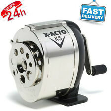 Pencil Sharpener Boston Manual Table Wall Mount Chrome School Hand Crank Desktop