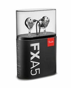 Fender FXA5 Professional In-Ear Monitor Pro Silver Headphones NEW Sealed USA