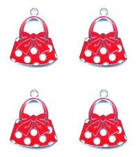 20pcs cartoon minnie bag Metal Charm Necklace earrings Pendants Jewelry Making