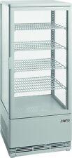Kühlvitrine Aufsatzvitrine 98 Liter Weiß, Gastro Umluftkühlvitrine NEU