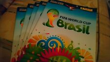 5 x PANINI Brazil 2014 World Cup New Empty Football Sticker Albums + 4 stickers