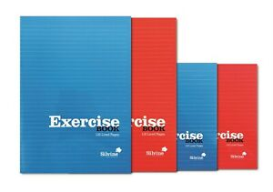 5  X A5  SILVINE Red &  BLUE EXERCISE NOTEBOOK  120 PAGE CLASS CHILDREN HOMEWOR