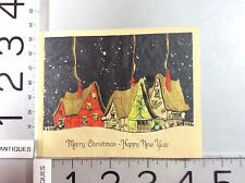 Victorian New Year Card Home Scene Catherine Lewis Howell Early 20c