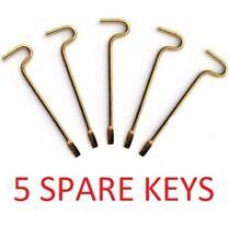 5-PK SPARE KEYS for KWIKSET INTERIOR BED BATH KNOBS EMERGENCY KEY 81087-001