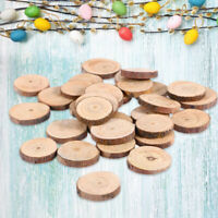 30 Pcs Wood Log Slices Ornaments DIY Crafts Decoration for Easter Wedding Party