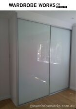 DIY Wardrobe Sliding Doors *Made to Measure **made to any size** OPAL GLASS