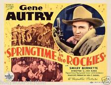 GENE AUTRY With GUN In SPRINGTIME IN THE ROCKIES 11x14 TC Print 1937
