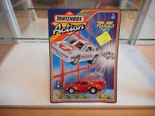 Matchbox Turbo 2 Porsche in Red on Blister
