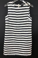 Massimo Dutti Dress Sleeveless Buttons Striped Spain - Women Size M + Bracelet!