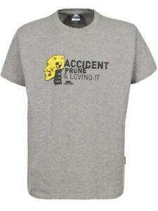 Trespass 'Accident Prone And Loving It' Grey T Shirt Size Medium