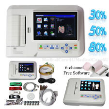 Portable ECG Machine Touch EKG Monitor 6 Channel Electrocardiograph USB Software